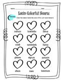 Latin Colors Worksheet