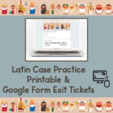 Latin Declension Chart Practice: Sentence Exit Tickets (Go