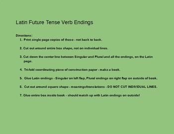 Latin Future Tense Verb Endings