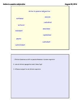 Latin GCSE. Active to passive subjunctive.