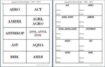 Latin & Greek Root Word Vocabulary I: Powerpoints, Flashcards, Worksheets, Exams