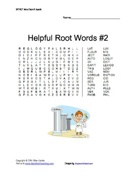 Latin & Greek Root Wordsearches
