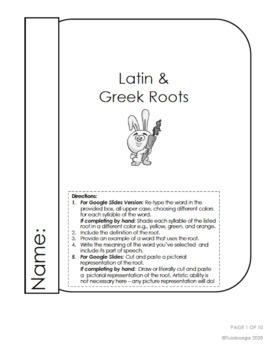 Latin & Greek Roots - Core Knowledge {Digital & PDF}