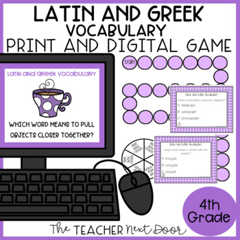 Latin and Greek Roots Game | Latin and Greek Center | Latin and Greek Activity