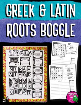 Latin & Greek Roots Morphology Editable BOGGLE Bulletin Board