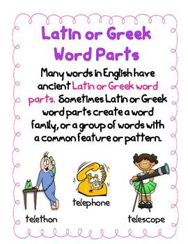 Latin & Greek Word Parts