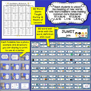 Word Stems and Roots Set 2 Includes Interactive Notebook (16 wks of lessons)