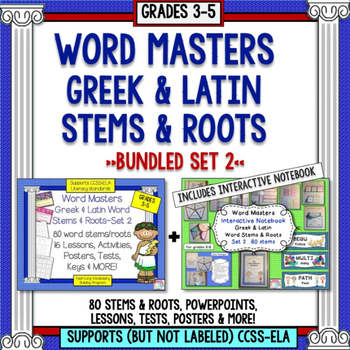 Word Stems and Roots Set 2 Includes Interactive Notebook (