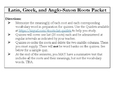 Latin, Greek, and Anglo-Saxon Roots Unit Sample
