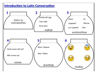 Latin Introduction to Conversation Flipbook