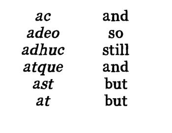 Latin Little Words Poster Printouts