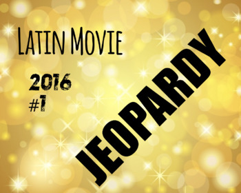 Latin Movie Jeopary 2016/2017 #1