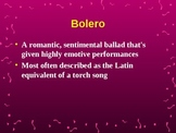 Latin Music Overview - Bolero to Rock en Español