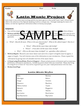 Latin Music and Dance Project
