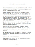 """Latin Phrases"" four-page handout/reference"