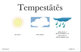 Latin Posters: Qualis tempestās est? Weather Expressions (Hard Good)