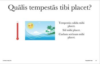 Latin Posters: Qualis tempestās est? Weather Expressions (Hard Good)