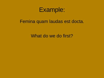 Latin Relative Clause Translation Powerpoint