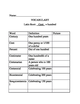 A Year of Vocabulary