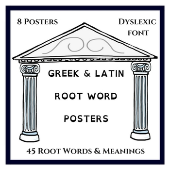 Latin Root Word & Meanings Posters