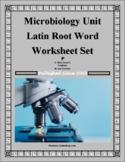Latin Root Word Worksheet Bundle for Microbiology