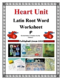 Latin Root Word Worksheet for the Heart