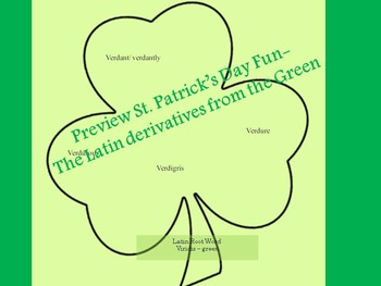 Latin Root Words and Derivatives for St. Patrick's Day