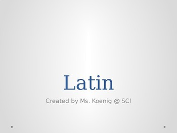 Latin Root Words for GED Science: Cloze PPT Activity