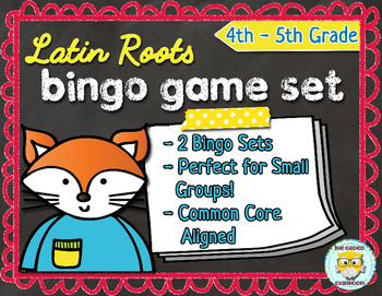 Latin Roots Bingo & Matching Game Set