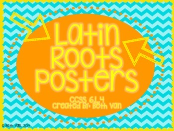 Latin Roots Posters + 100 Latin Root Word Cards