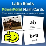 Latin Roots Interactive Flash Cards