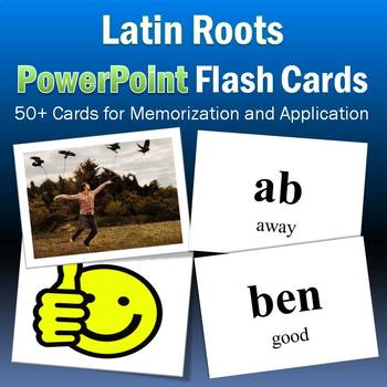 Vocabulary Activities | Latin Roots PowerPoint Flash Cards Part 1