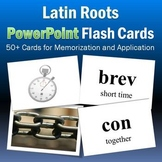Vocabulary Activities | Latin Roots PowerPoint Flash Cards Part 2