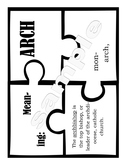Latin Roots Puzzle Pieces