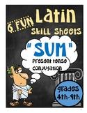 Latin SUM Present Tense Fun Practice Pages