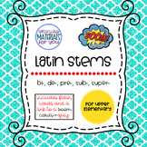 Latin Stems 1 for Boom Learning℠ and Boom Cards™