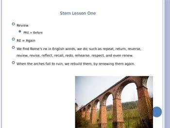 Latin Stems