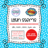 Latin Stems 2 for Boom Learning℠ and Boom Cards™