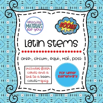 Latin Stems 3 for Boom Learning℠ and Boom Cards™