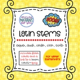Distance Learning Latin Stems 4 for Boom Learning℠ and Boo