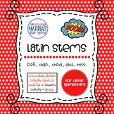 Latin Stems 5 for Boom Learning℠ and Boom Cards™