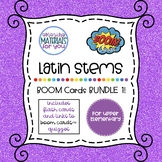 DISTANCE LEARNING Latin Stems BUNDLE 1 for Boom Learning℠