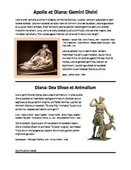 Latin Story: Apollo and Diana (Latin I, Imperfect Tense)