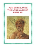 Latin: The Language of Rome Fun Worksheet #3