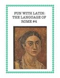 Latin: The Language of Rome Fun Worksheet #4