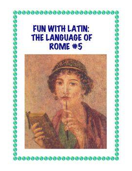 Latin: The Language of Rome Fun Worksheet #5