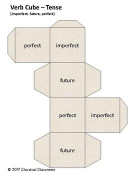Latin Verb Conjugation Practice Cubes