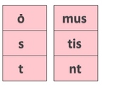 Latin Verb Ending Flashcards, color coded by tense