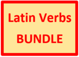 Latin Verbs Present Active Bundle