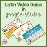 Latin Video Game via Google Slides